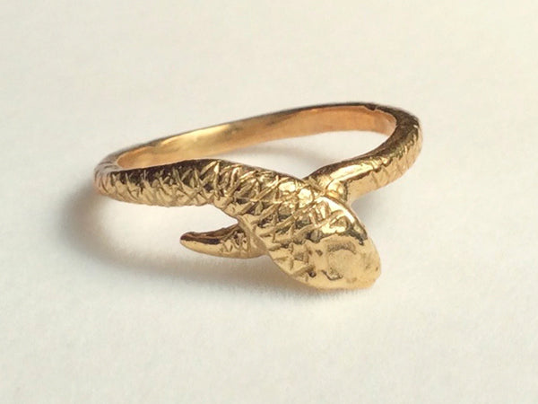 serpent ring, snake ring, golden snake ring