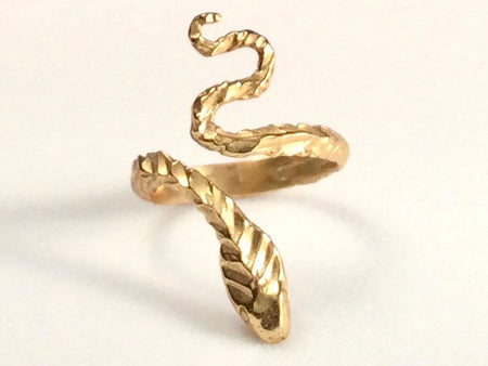 Double Snake Head Ring