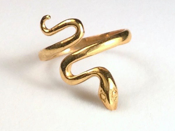 Snake Squiggle Ring, Smooth