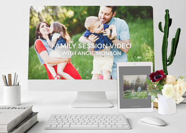 Family Session Video COMBO With Family Posing Guide