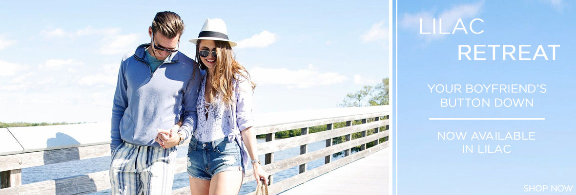 Lilac Boyfriend Button Down