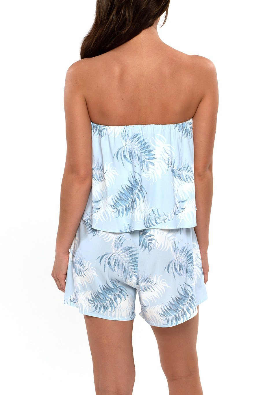 Montauk Romper - Blue Palms - Shore