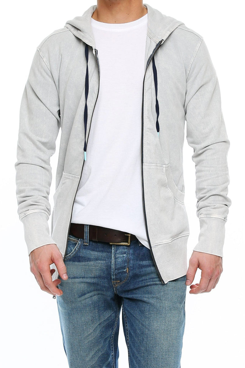 Long Sleeve Zip Hoodie - High Rise - Shore