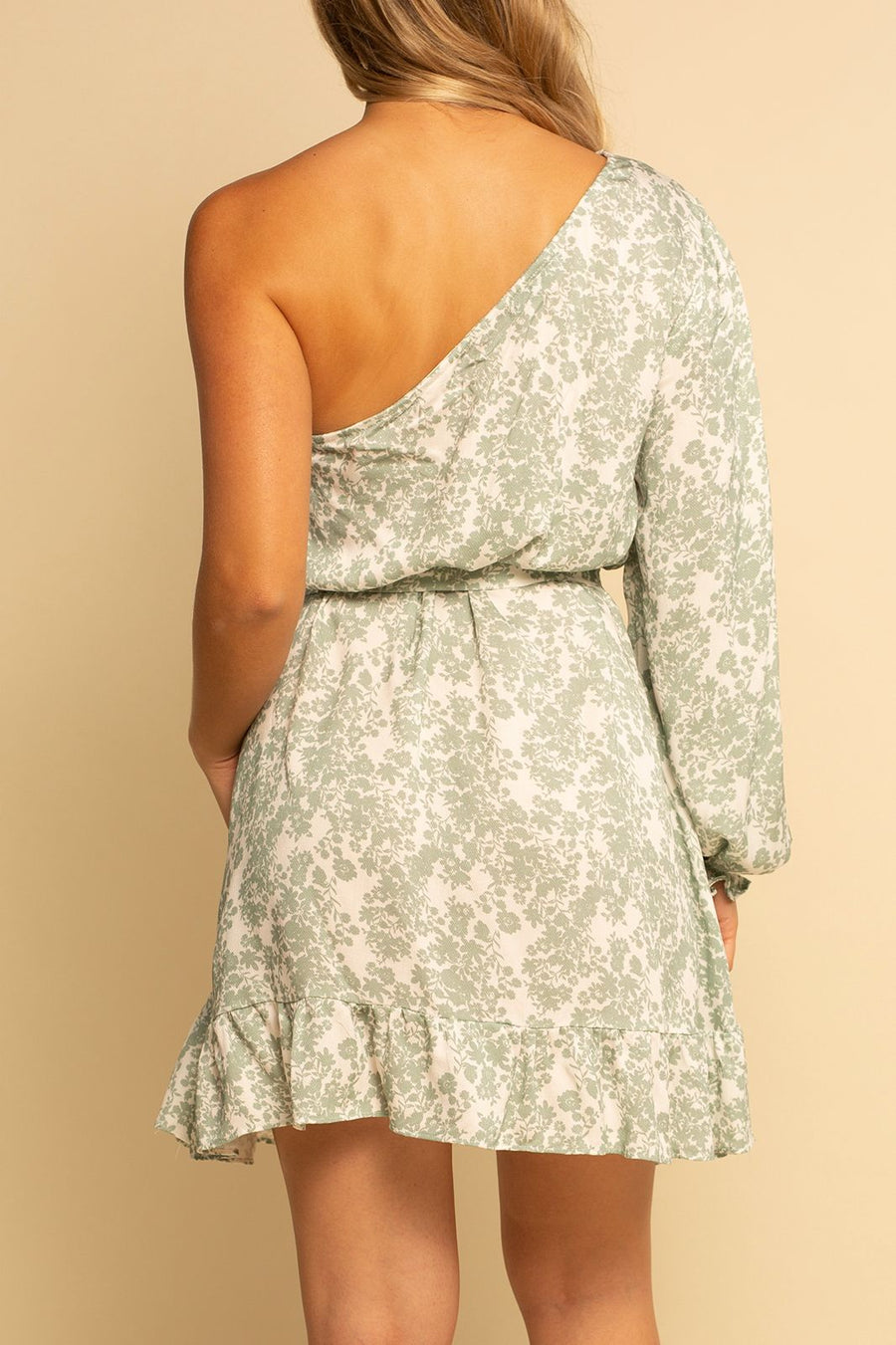 One Shoulder Dress - Garden Party - Shore