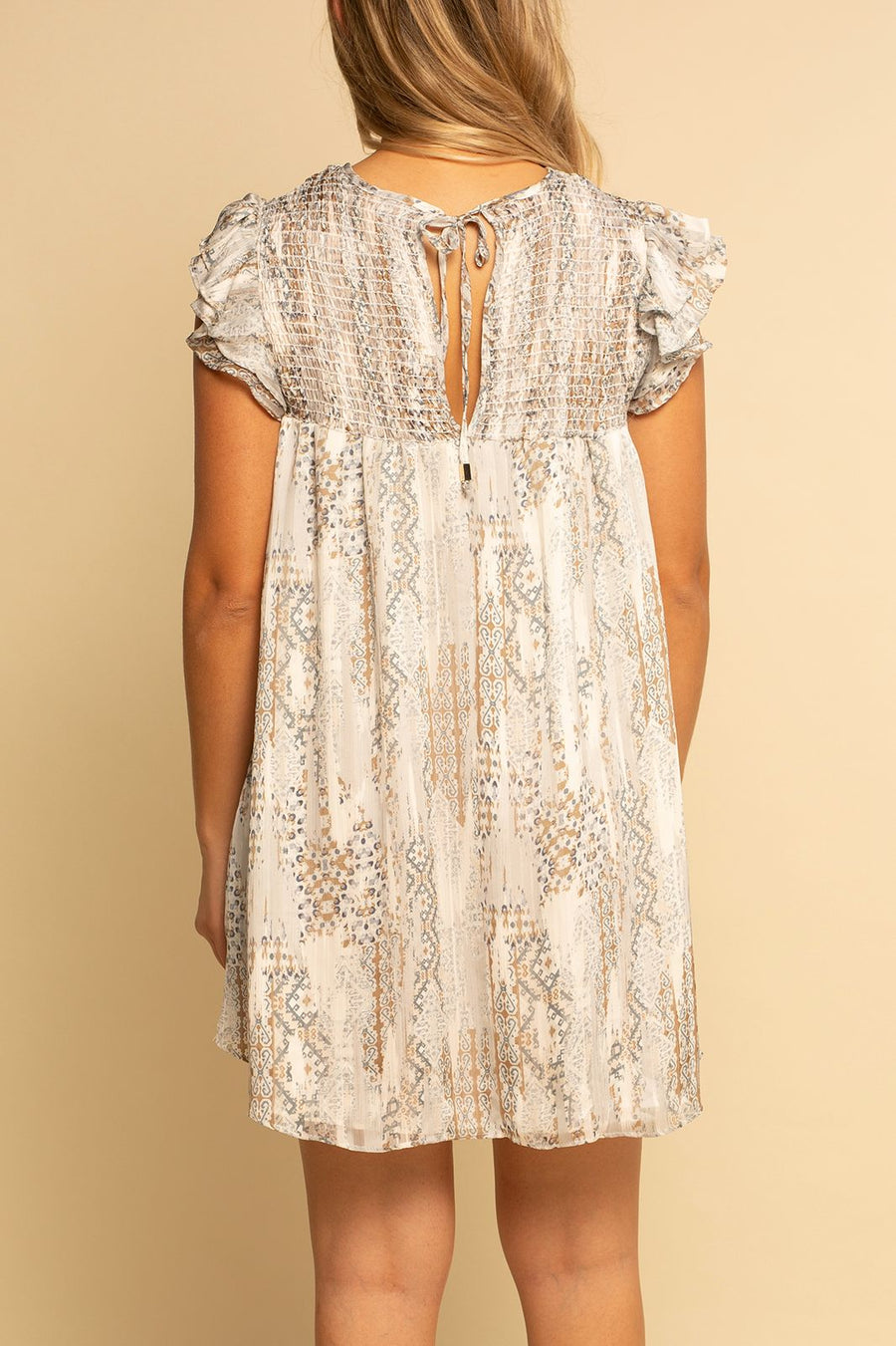 Smocked Top Dress -  Fall Paisley