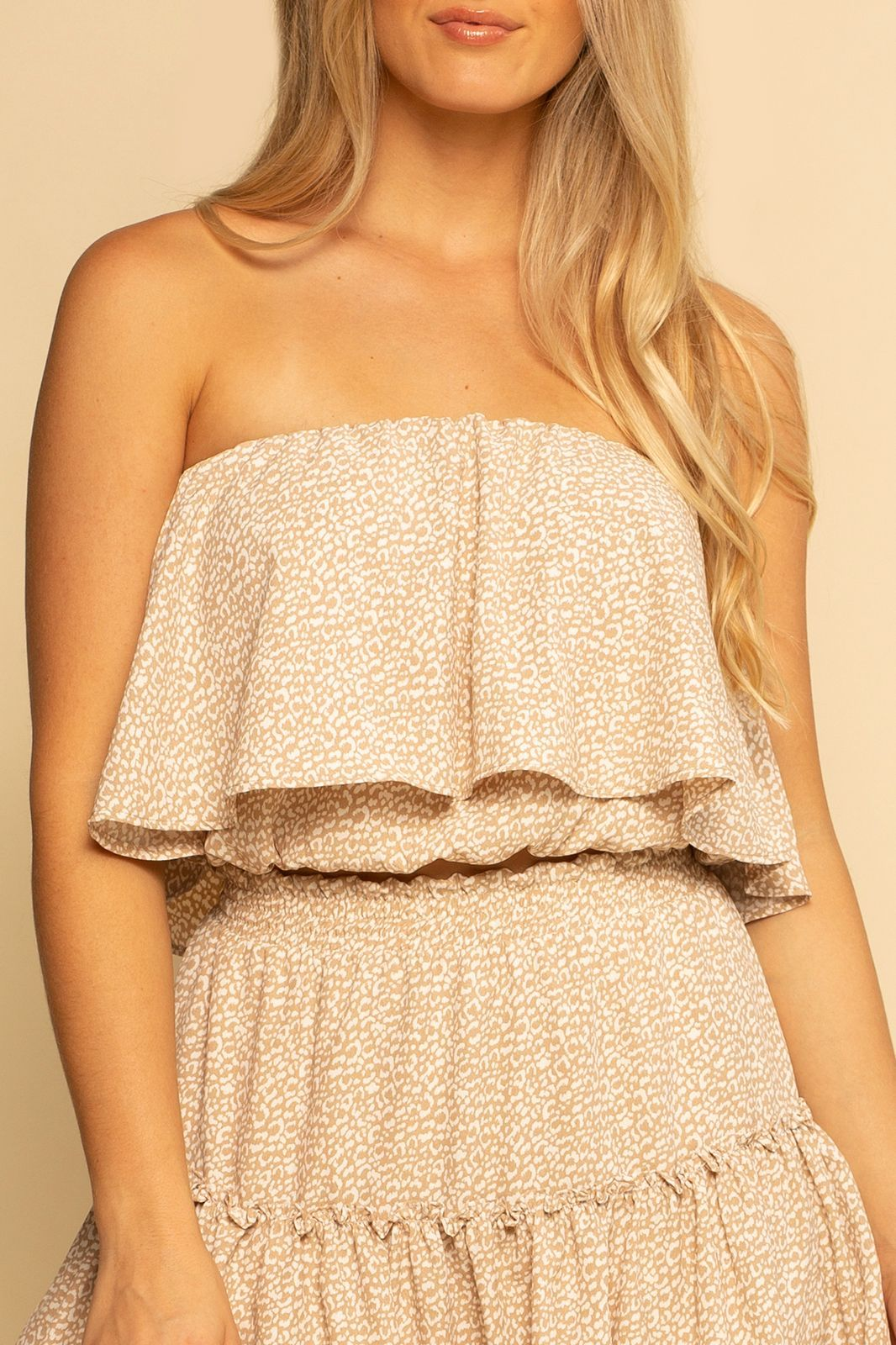 Huntington Layered Top - Nude Leopard - Shore