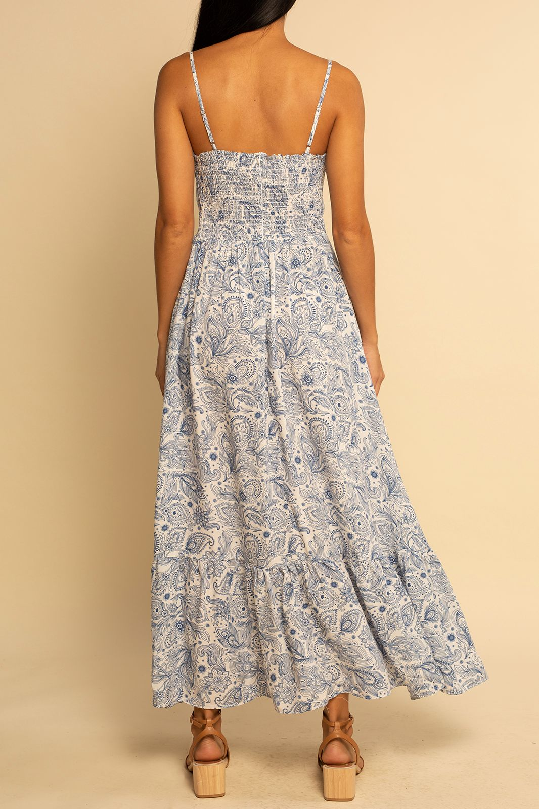 Seaside Dress - Blue Paisley - Shore