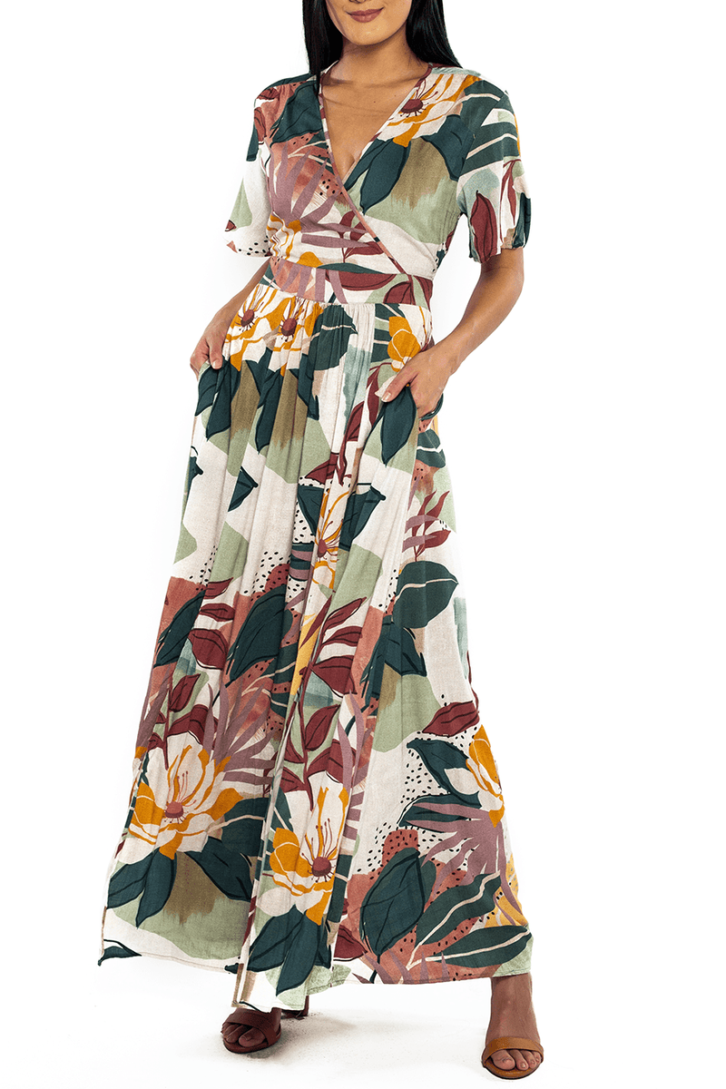 Catalina Cut Out Maxi - Fall Floral - Shore