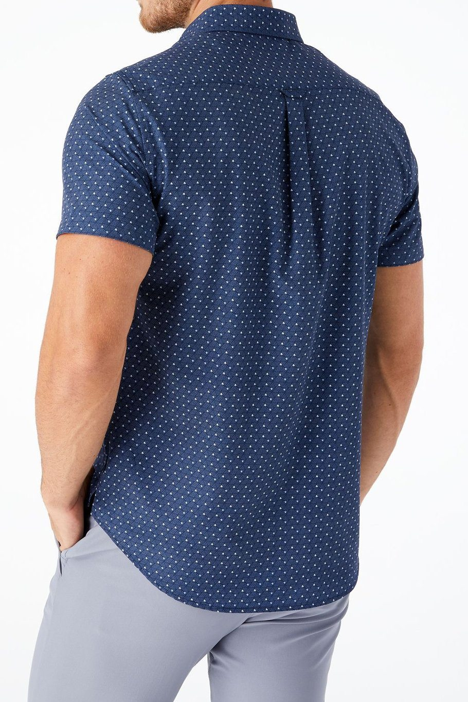 Ups and Downs 4-Way Stretch Shirt - Navy - Shore