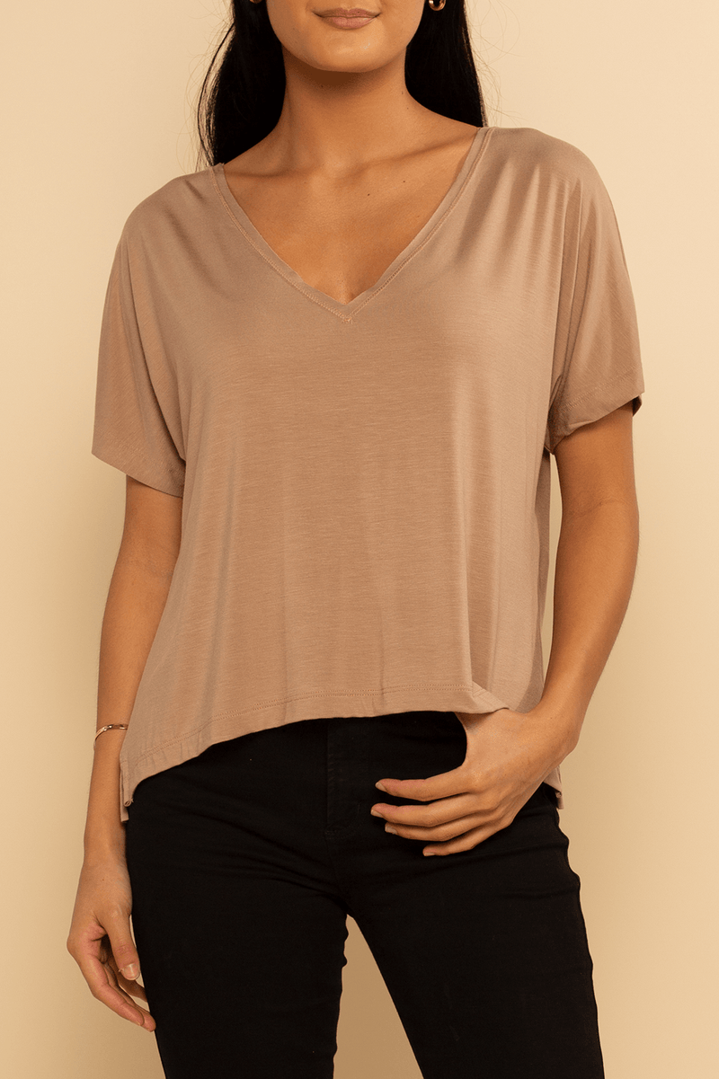 Boca Dolman Top - Cocoa - Shore