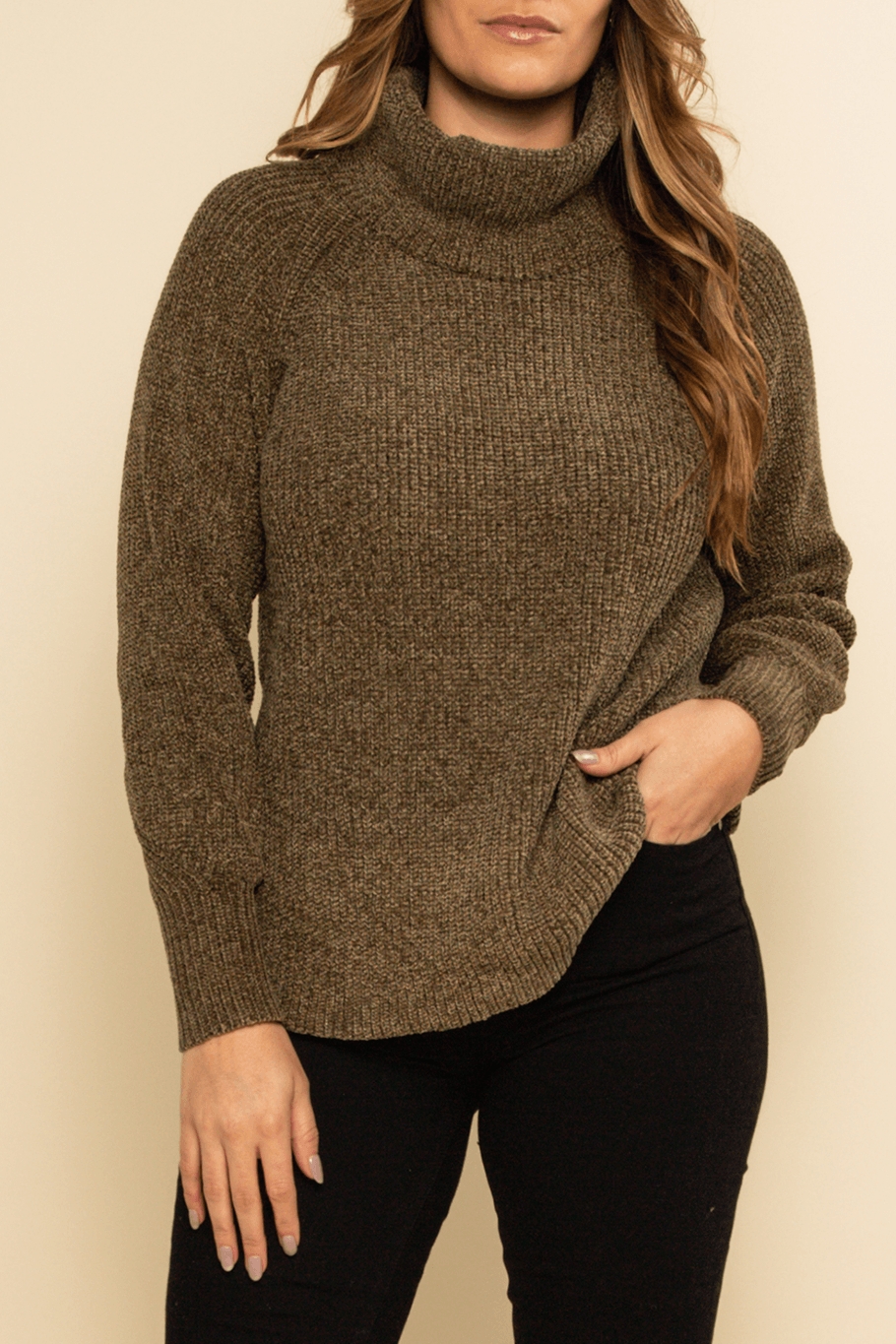 Breckenridge Turtleneck Sweater - Olive - Shore