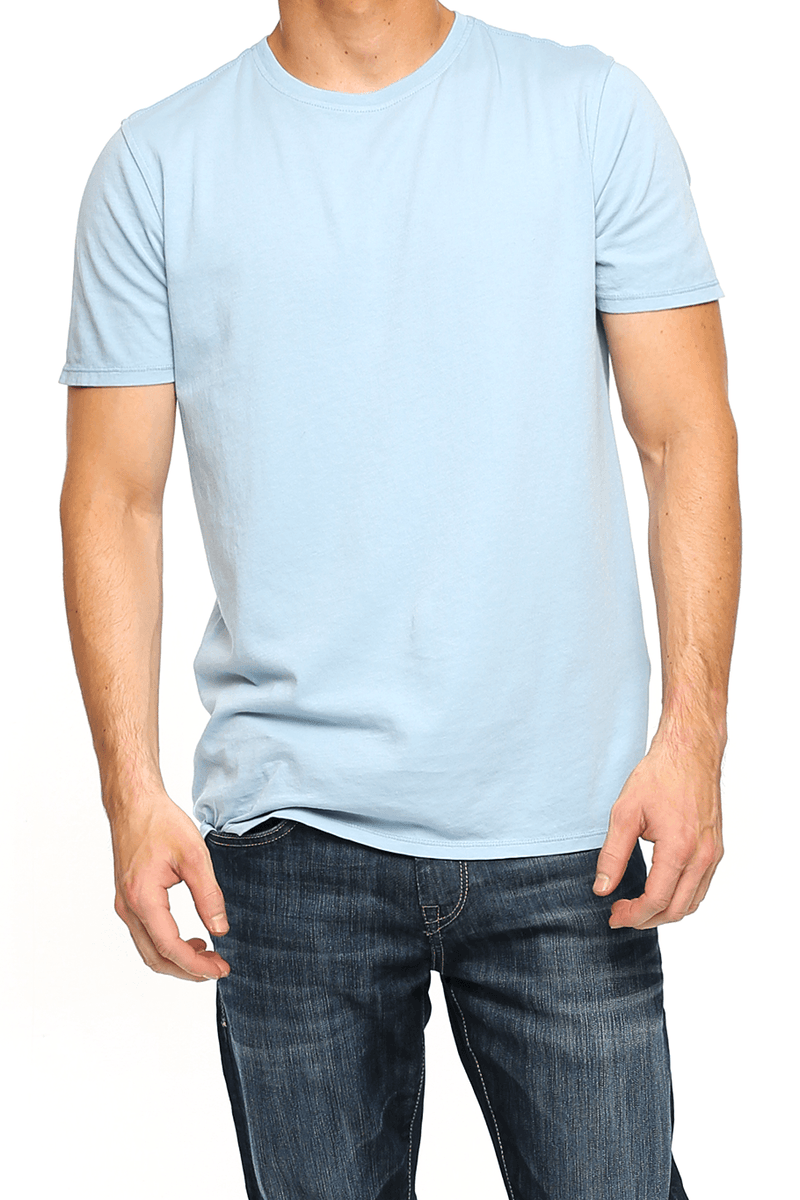 Crew Neck Short Sleeve Tee - Dusty Blue - Shore