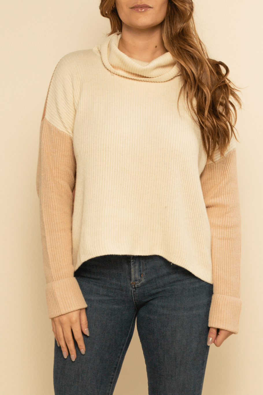 Vermont Sweater - Cream/Pink - Shore