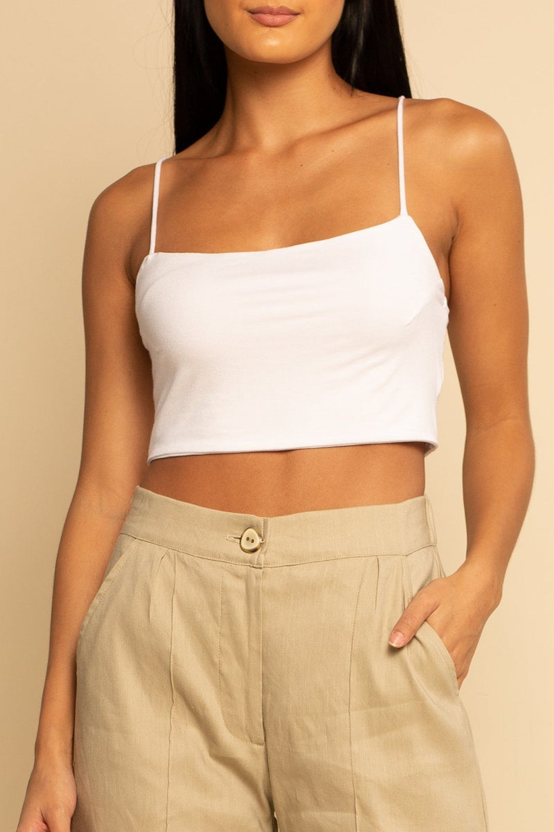 Crop Tank - White - Shore
