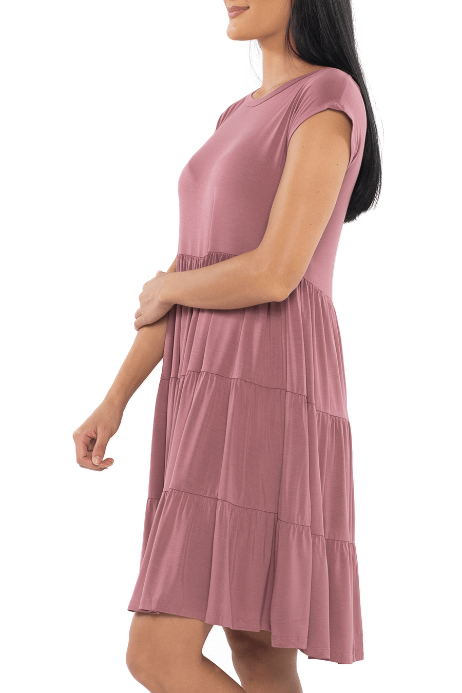 Babydoll Tunic Dress - Mauve - Shore