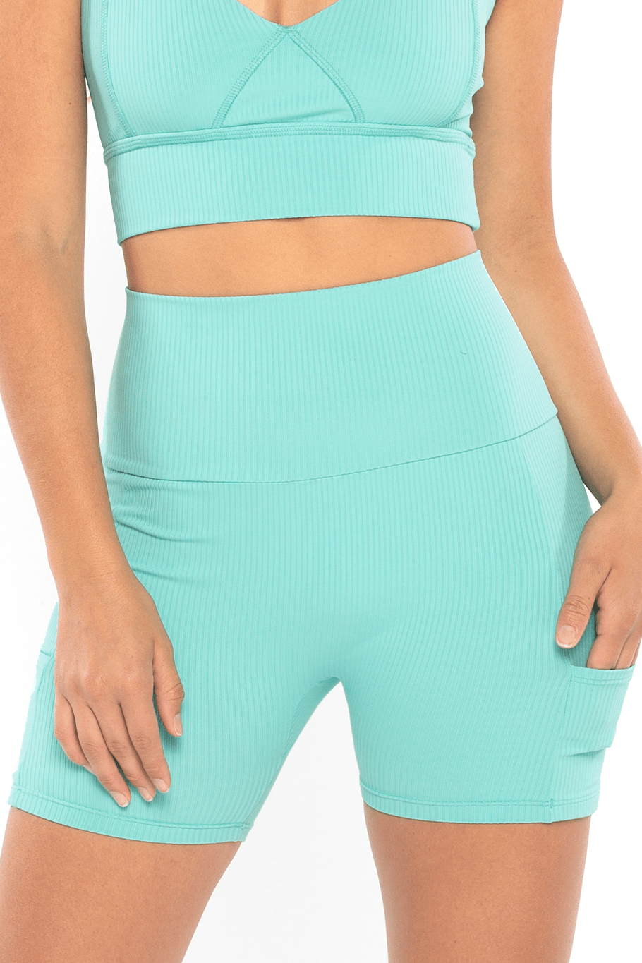 Shore Movement Bike Shorts - Seaglass Rib