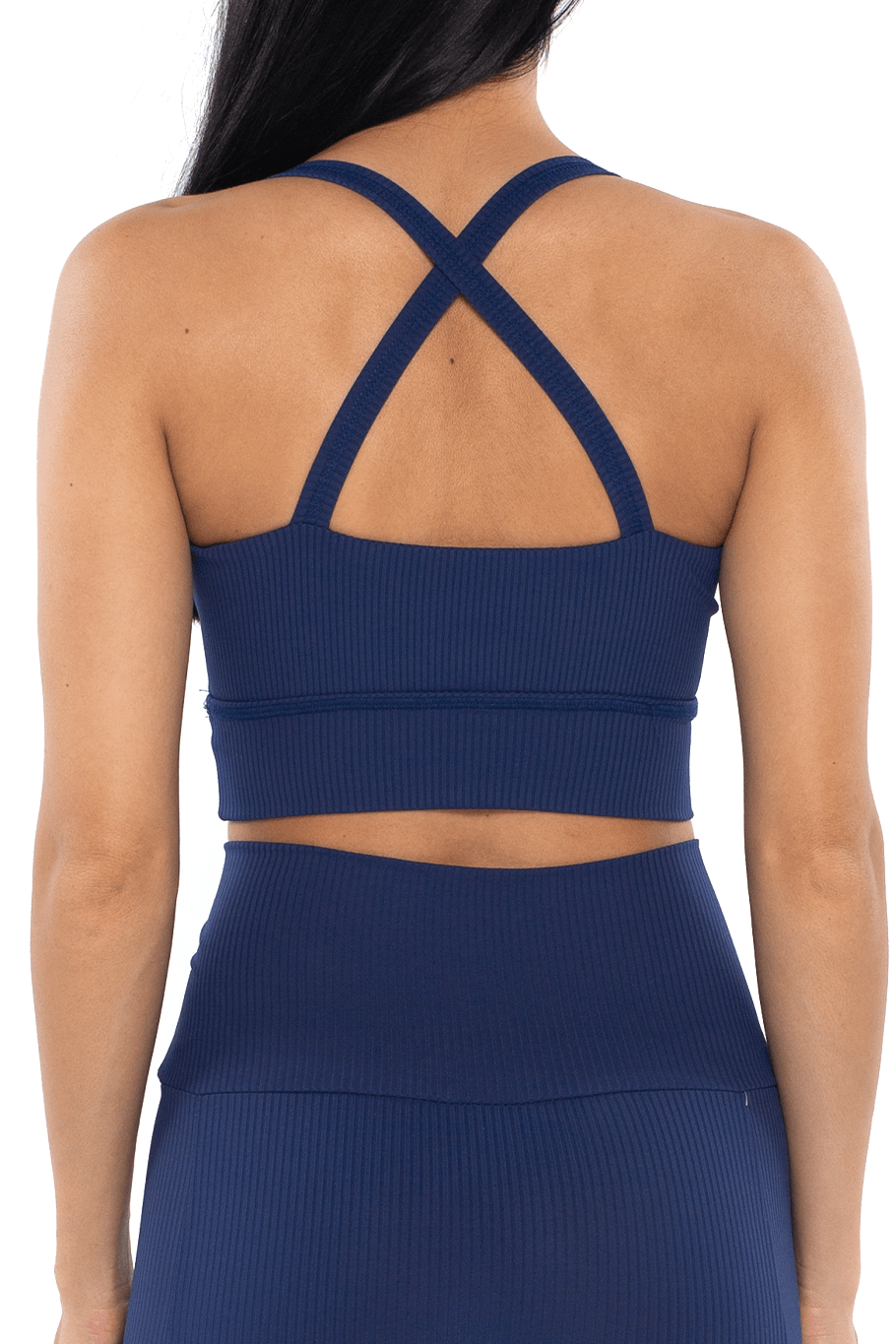 Shore Movement Sports Bra - Navy Rib - Shore