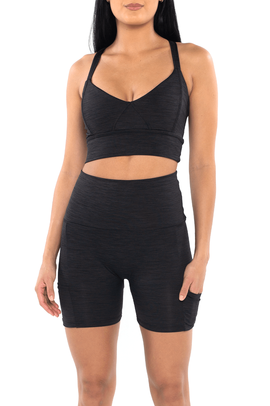 Shore Movement Sports Bra - Heather Black