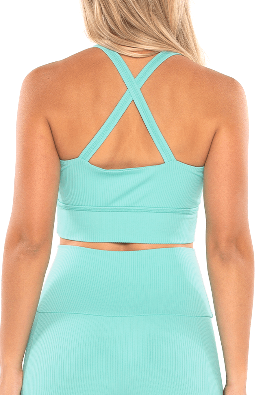 Shore Movement Sports Bra - Seaglass Rib