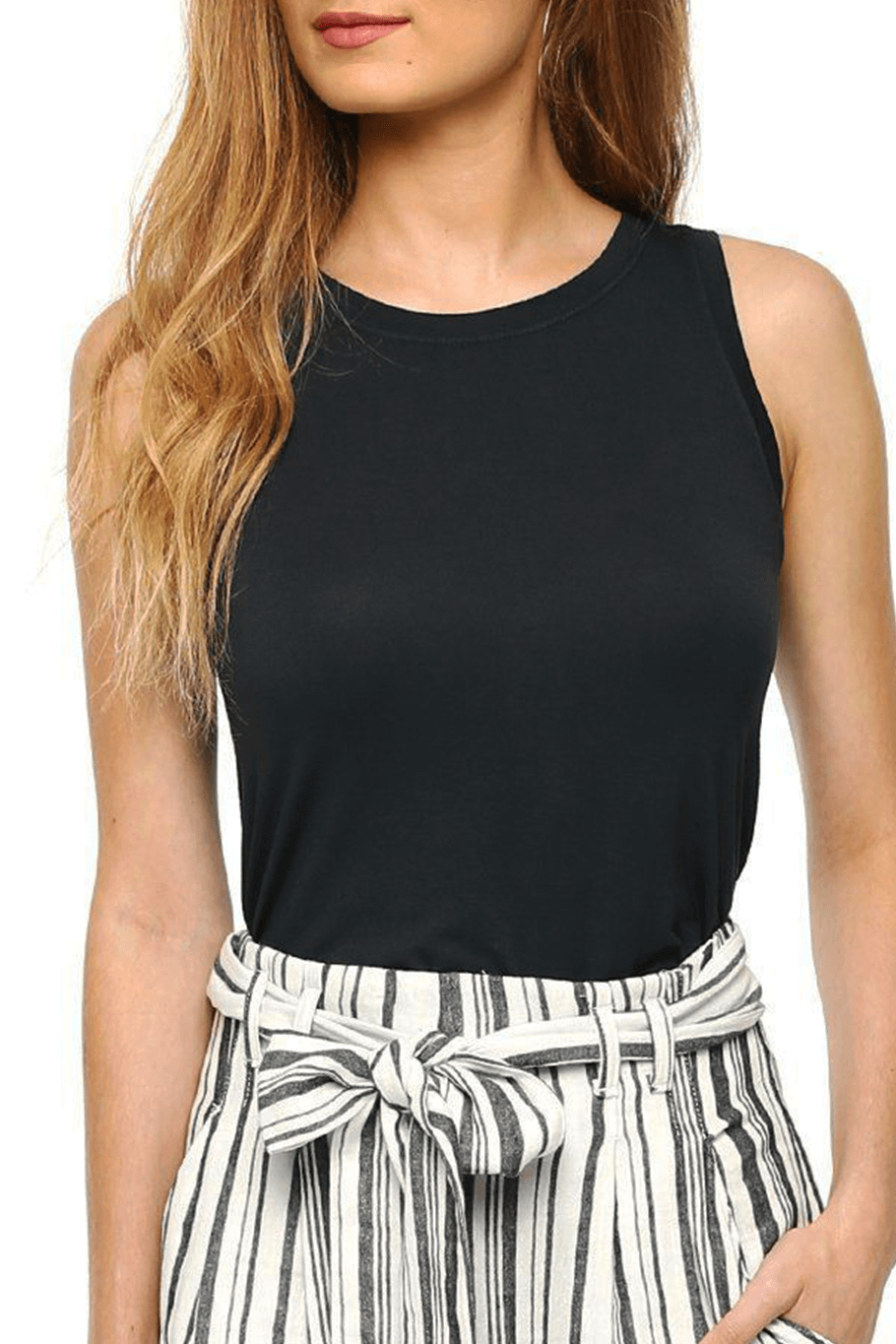 Gemma Back Detailed Top - Charcoal