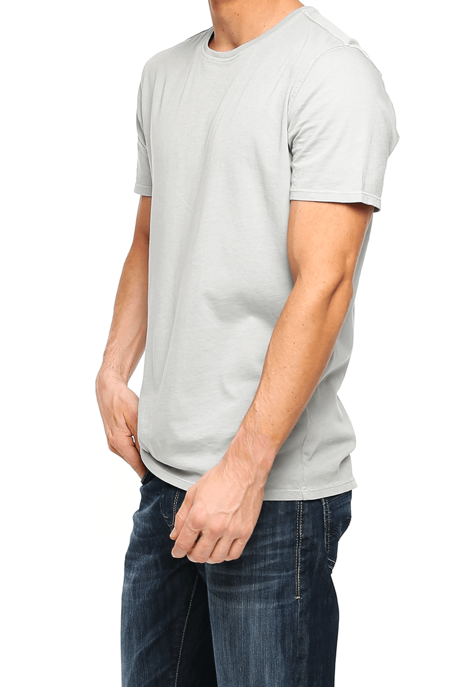 Crew Neck Short Sleeve Tee - Highrise - Shore