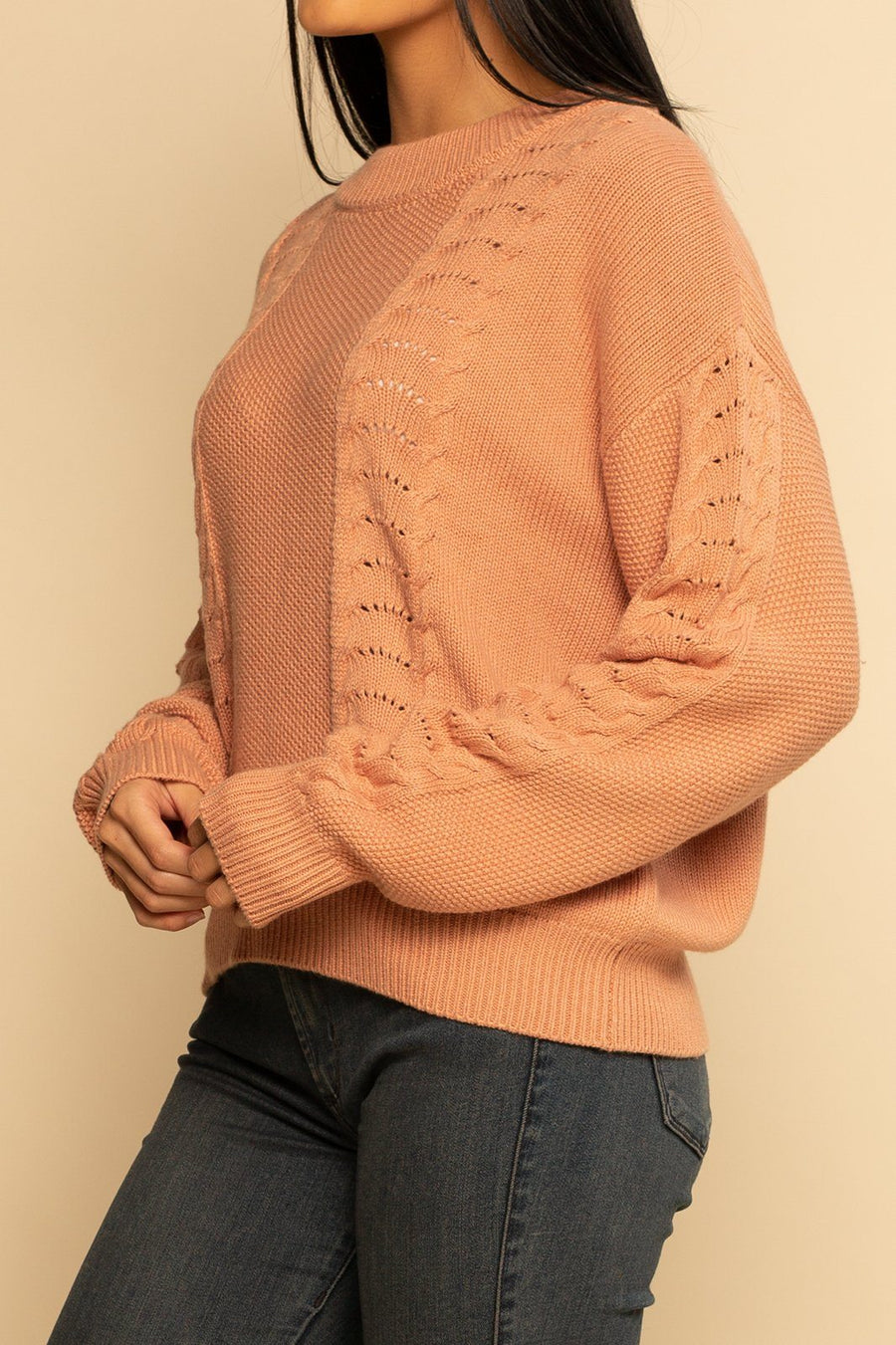 PREORDER | Saratoga Sweater - Dune Pink