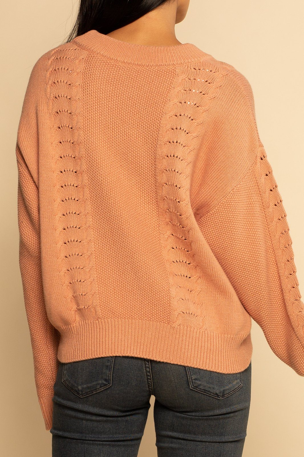 Saratoga Sweater - Dune Pink - Shore