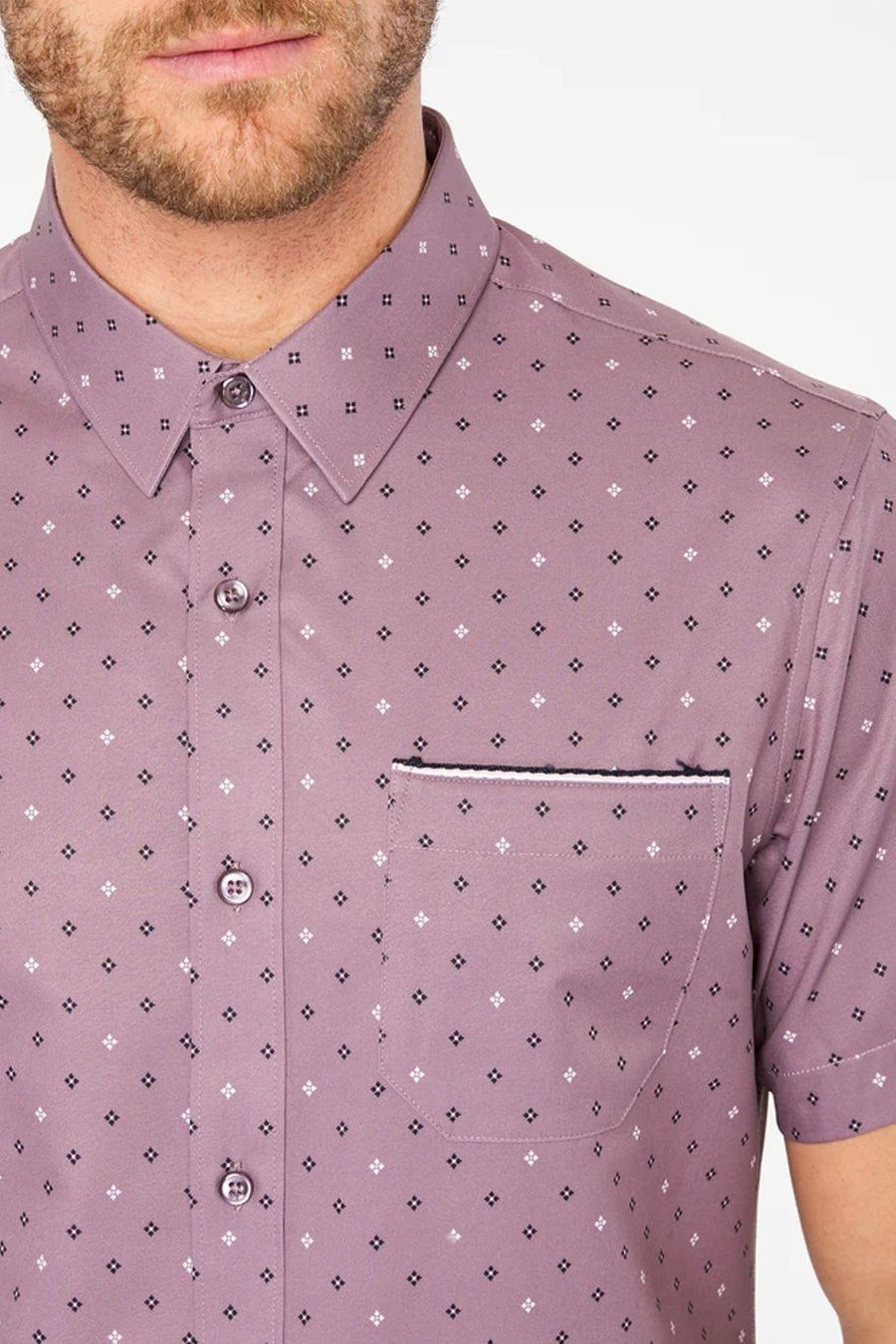 Highway Star 4-Stretch Polo - Grape - Shore