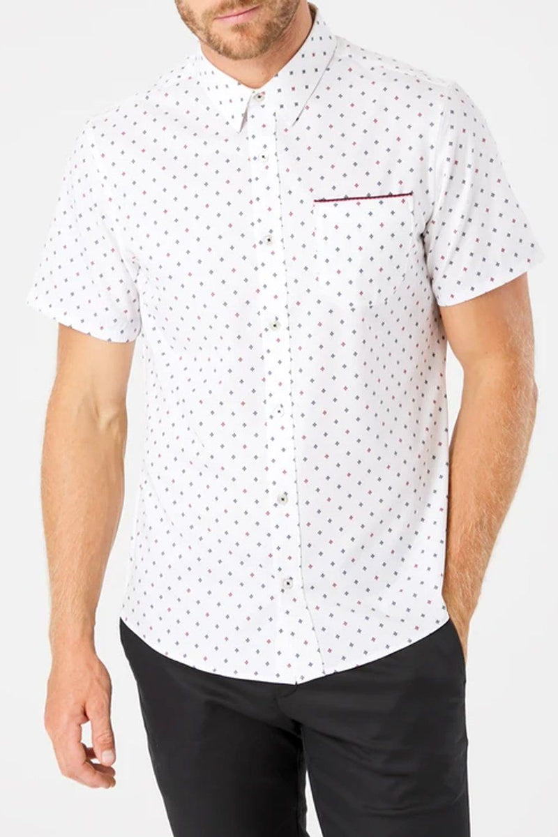 Highway Star 4-Stretch Polo - White - Shore