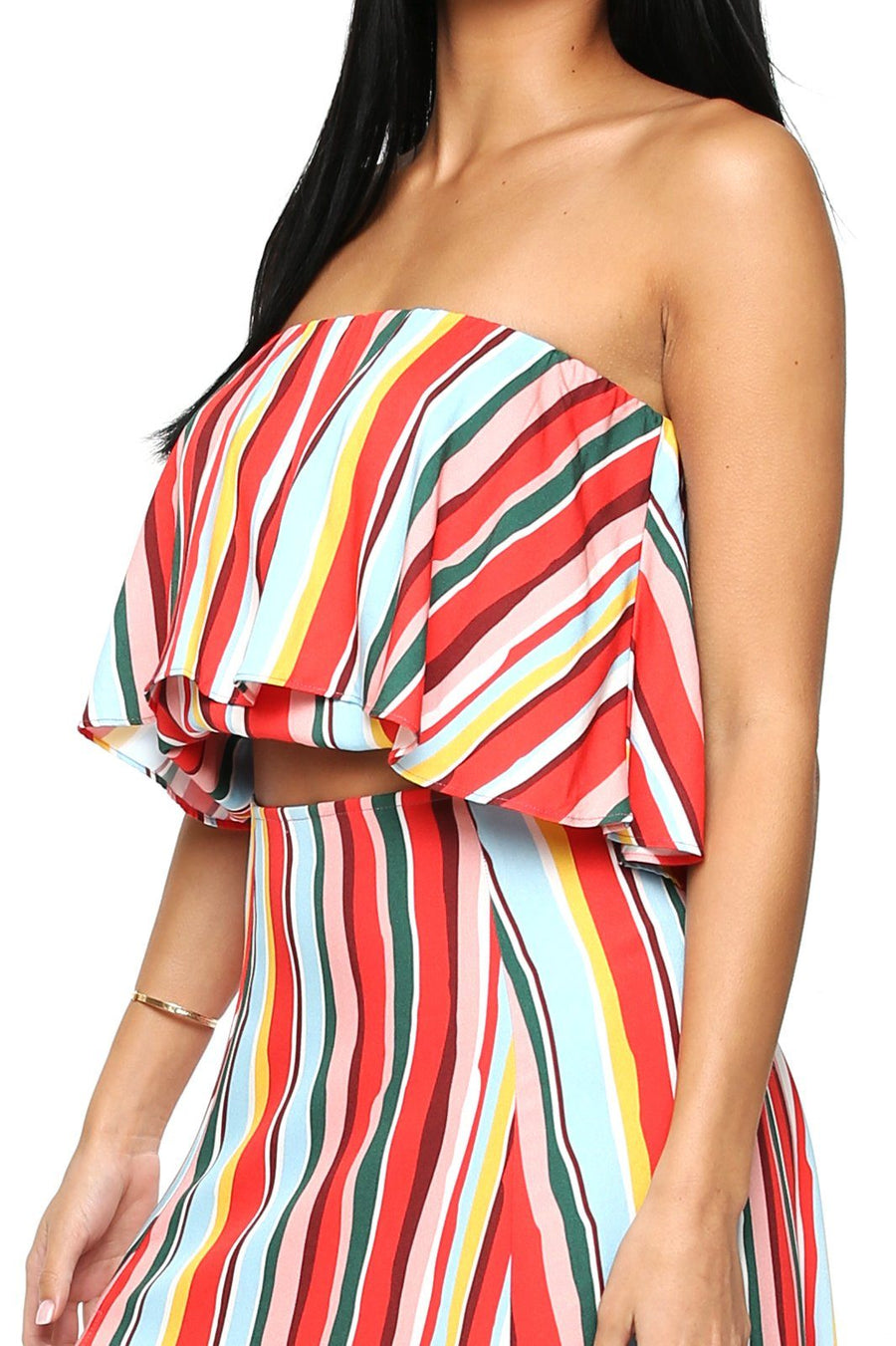 Huntington Layered Top - Vibrant Stripe - Shore