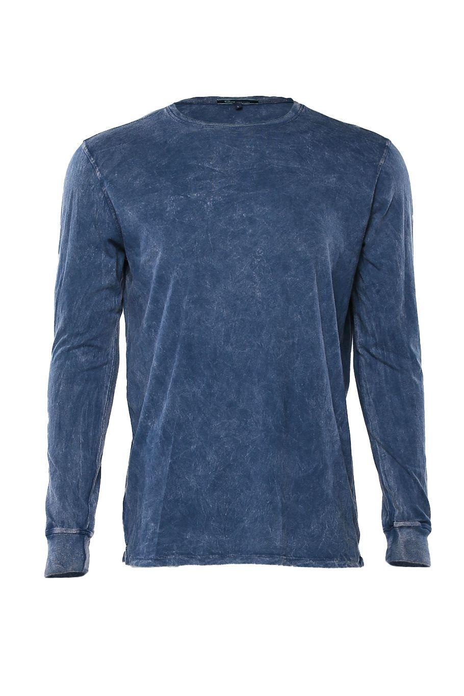 Long Sleeve Crew Tee - Navy Mineral