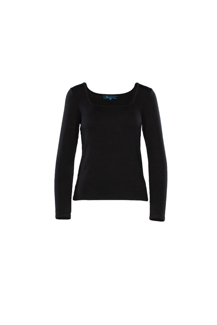Square Neck Top - Black - Shore