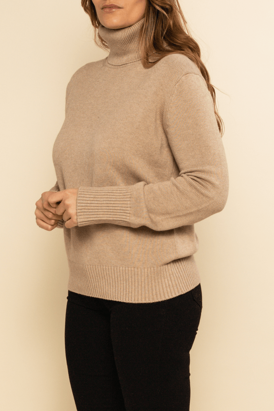Lucerne High Neck Sweater - Biscuit - Shore