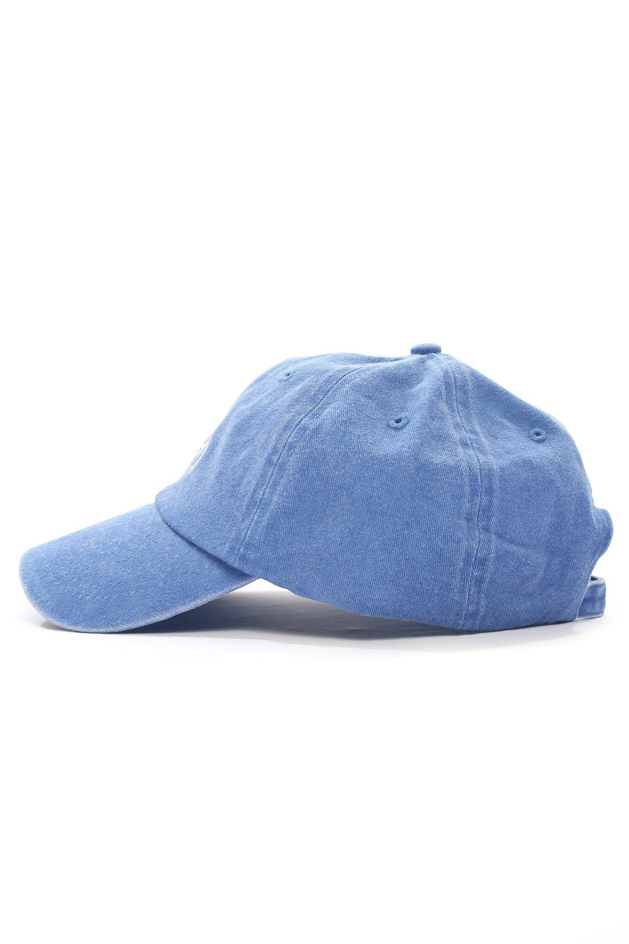 Sun Wave Solid White Logo Cap - Light Blue - Shore