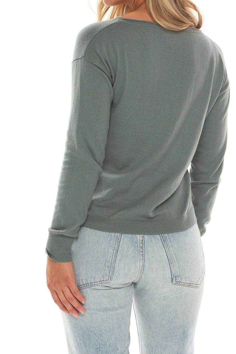 Vail U-neck Sweater - Arctic Green - Shore