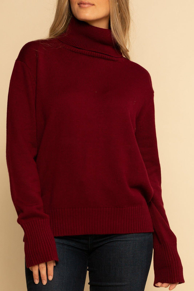 Lucerne High Neck Sweater - Bloodstone - Shore