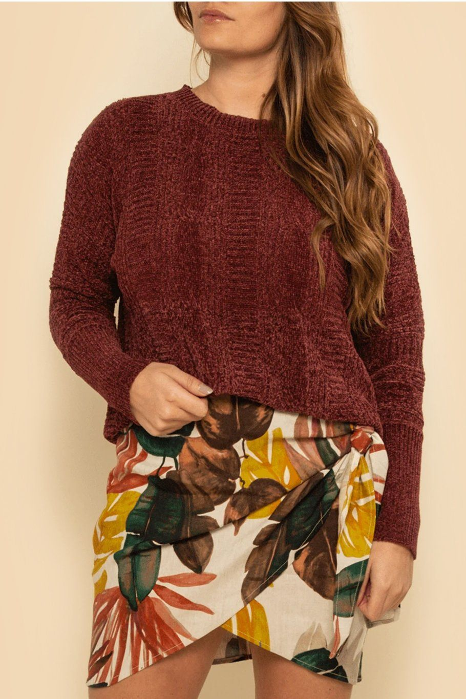 Fairbanks Sweater - Wine - Shore