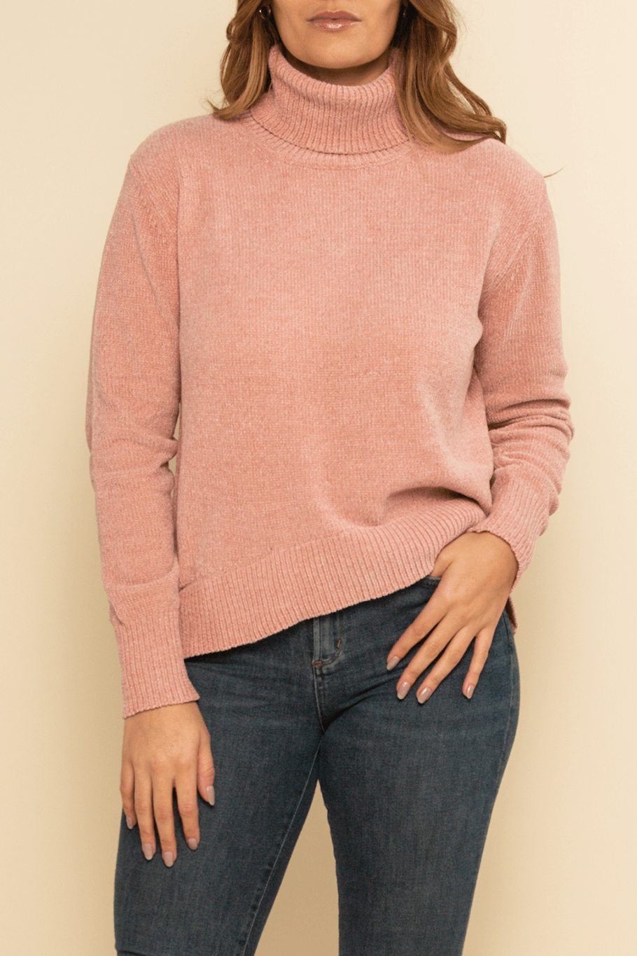 Oslo Turtleneck Sweater - Blush - Shore
