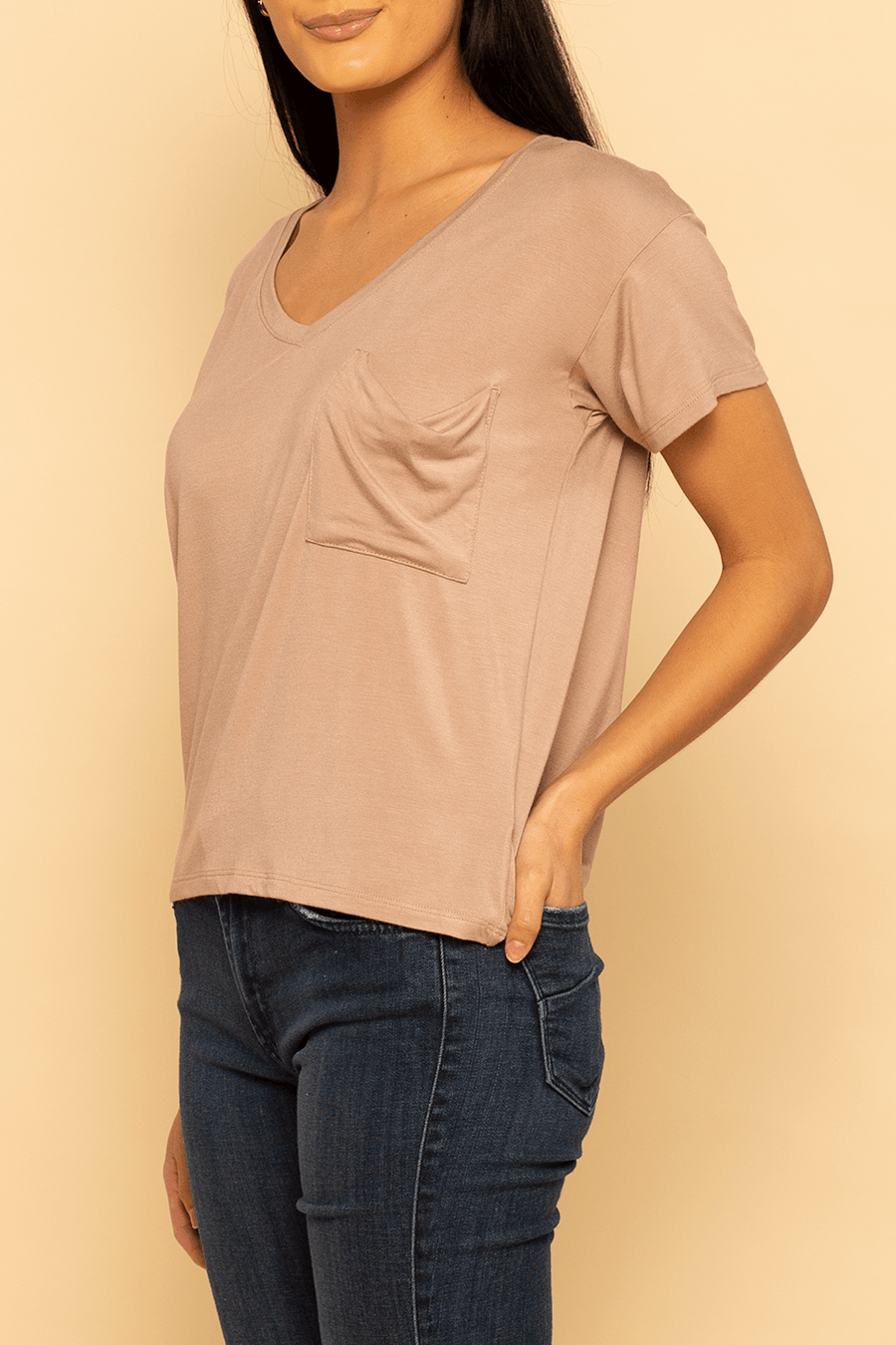 Pocket Tee - Taupe - Shore