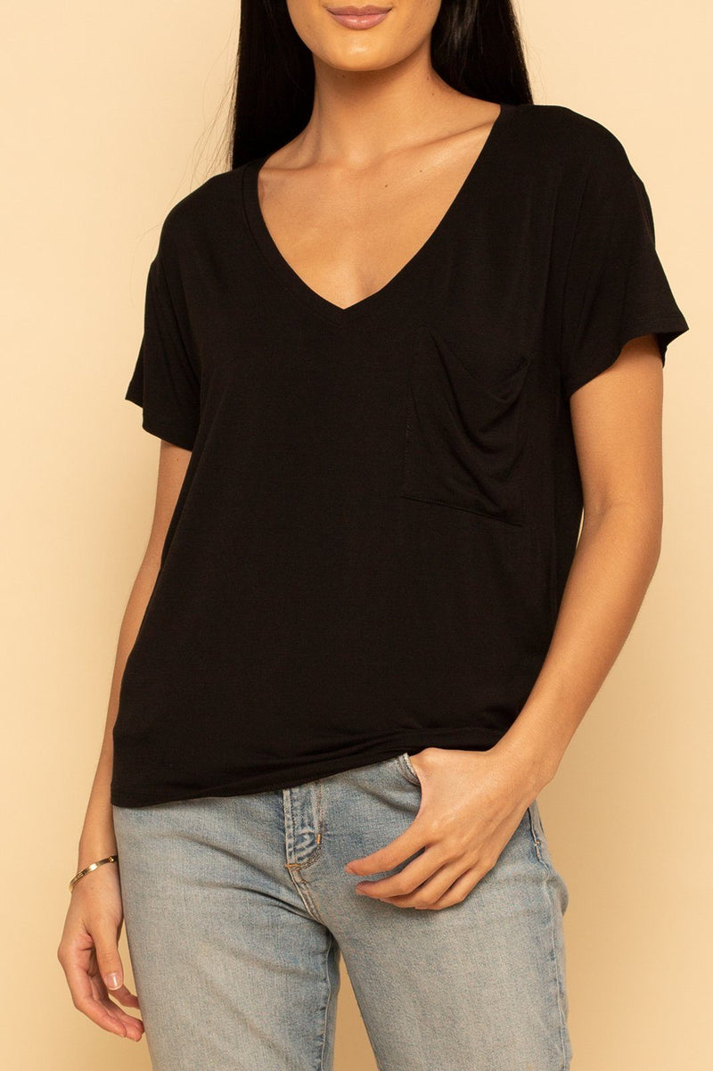 Pocket Tee - Black - Shore