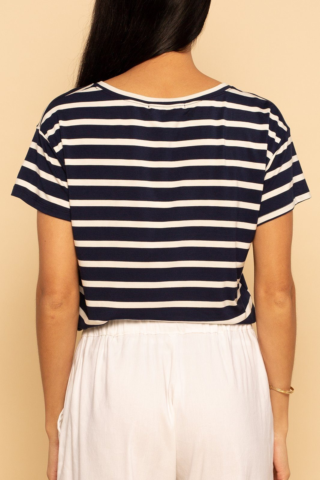 Pocket Tee - Navy Stripe - Shore