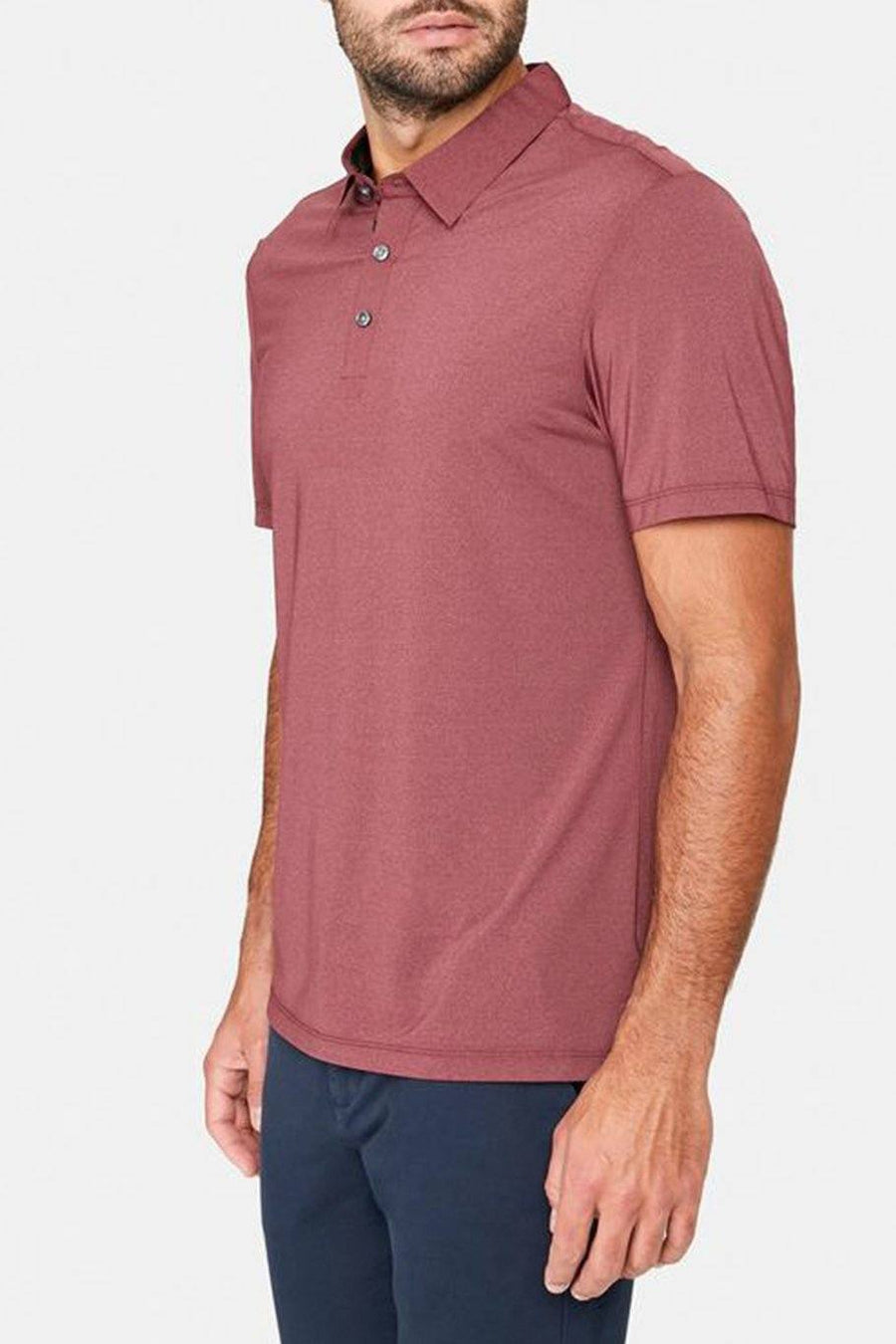 Albatross Seamless Performance Polo - Red - Shore