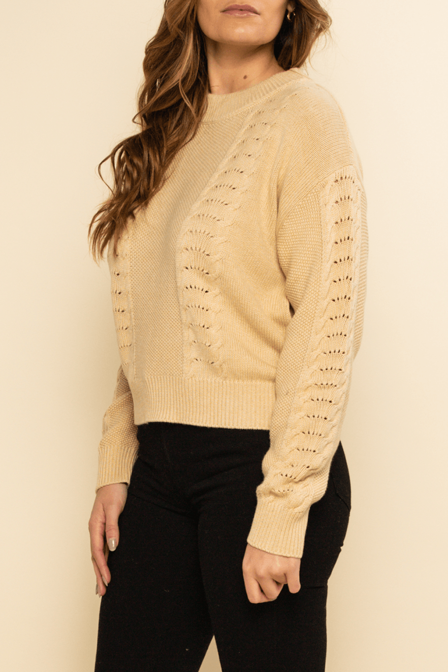 Saratoga Sweater - Latte - Shore