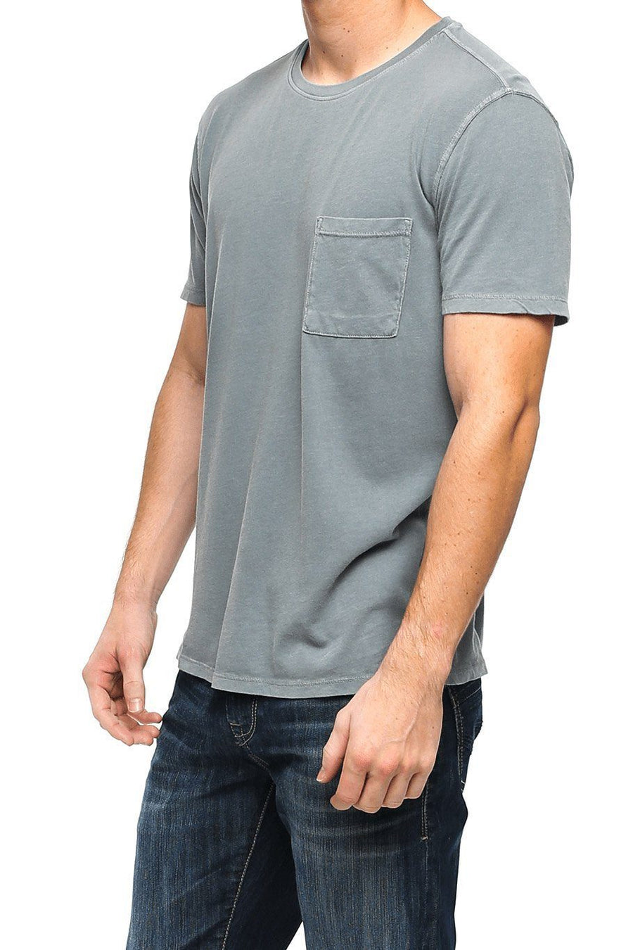 Short Sleeve Pocket Crew Tee - Castlerock - Shore