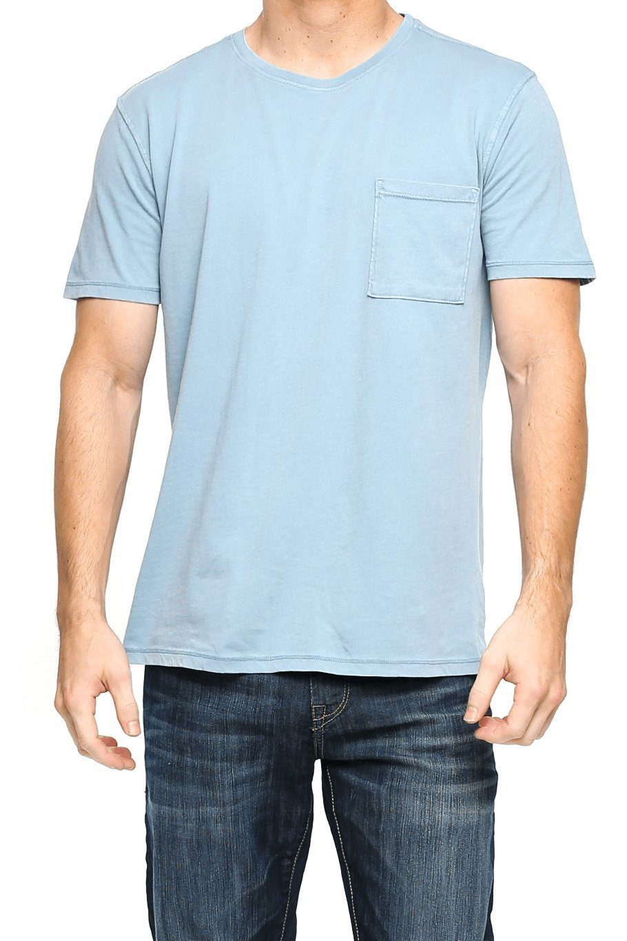 Short Sleeve Pocket Crew Tee - Stone Blue - Shore
