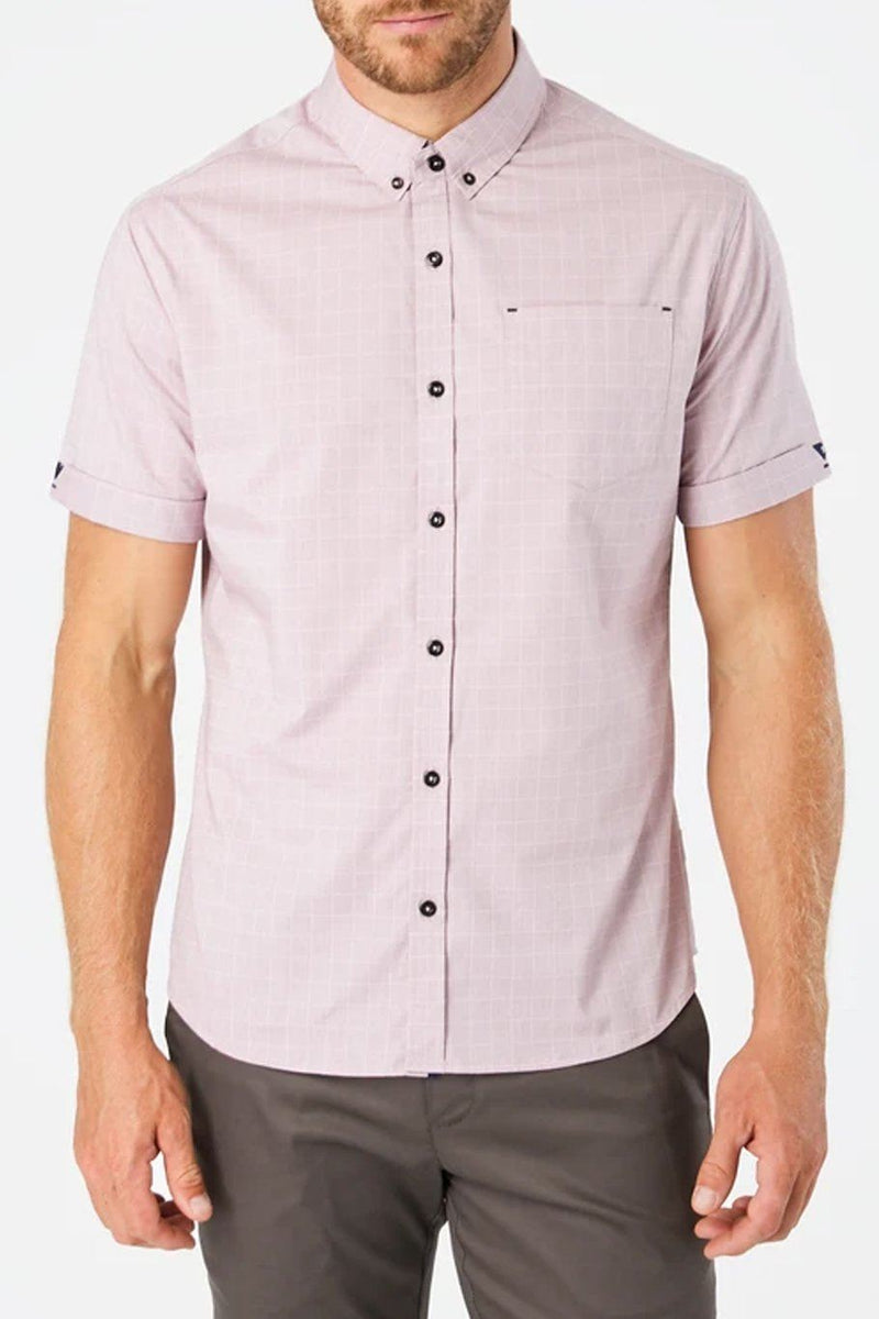 Saga Short Sleeve Shirt - Dusty Rose - Shore