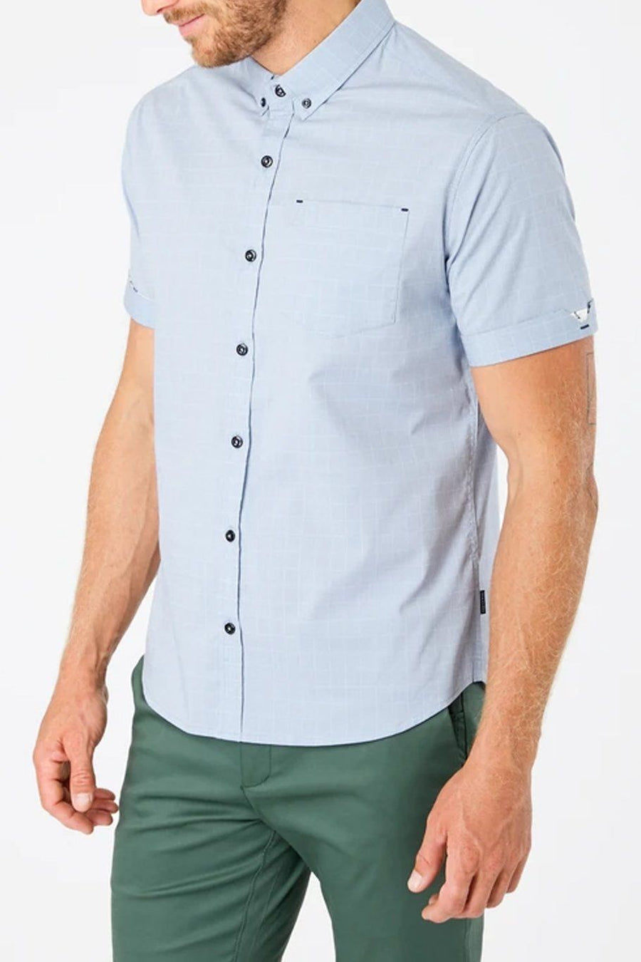 Saga Short Sleeve Shirt - Slate Blue - Shore