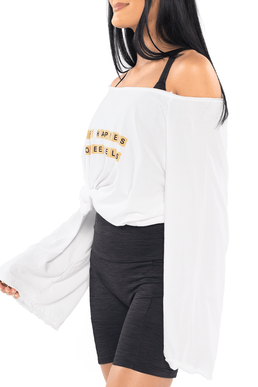 Coffee Bell Sleeve Top - Shore