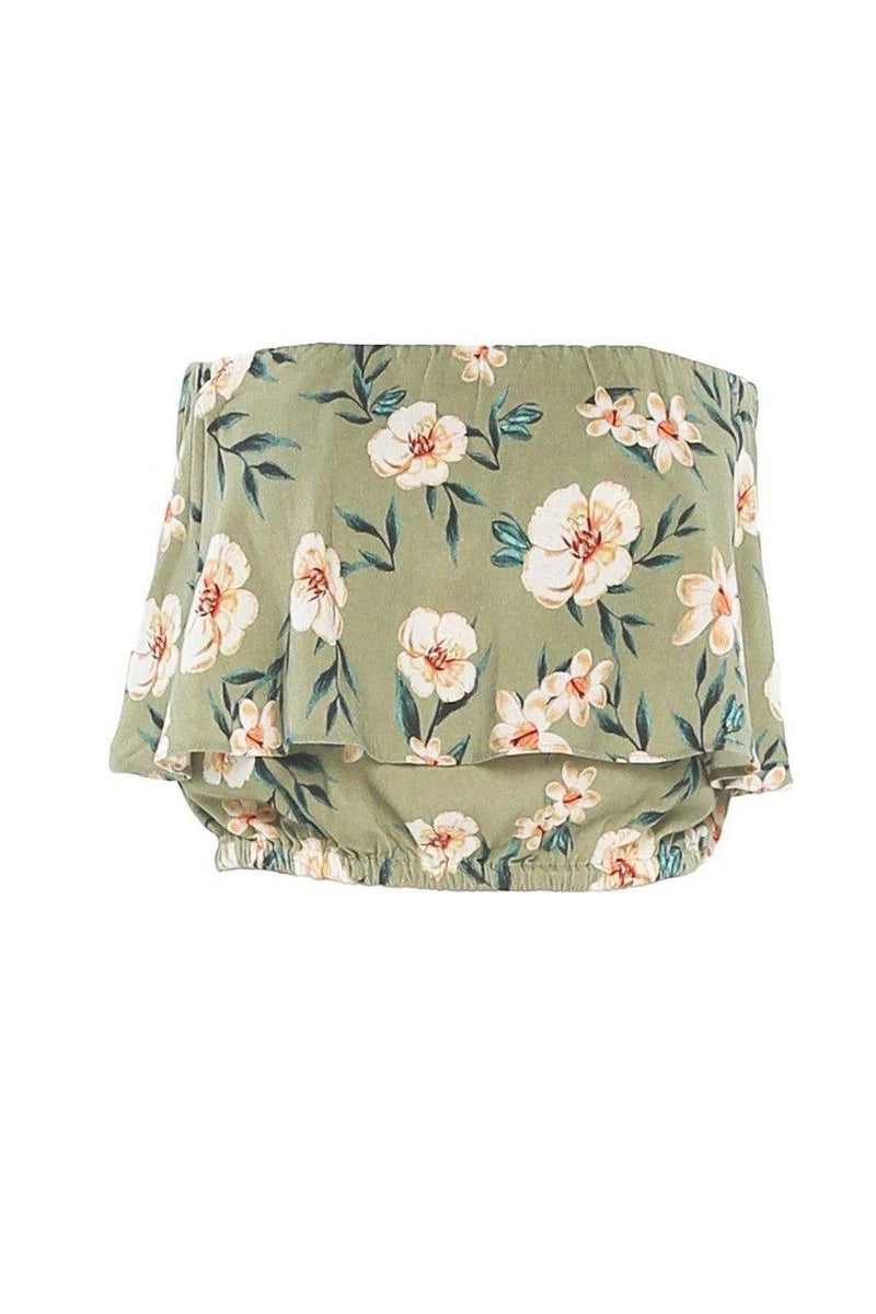 Huntington Layered Top - Green Floral - Shore