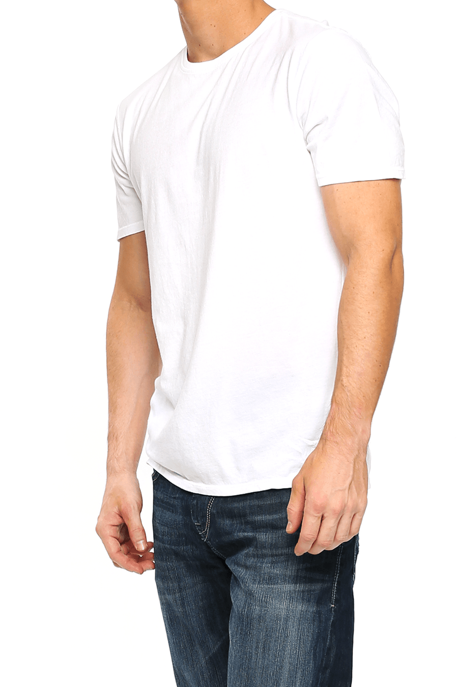Crew Neck Short Sleeve Tee - Optic White - Shore